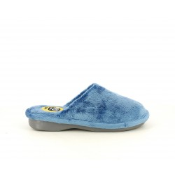 Zapatillas casa Laro azules acolchadas y suelas antideslizantes - Querol online