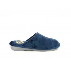 Zapatillas casa Laro azules acolchadas con suelas antideslizantes - Querol online