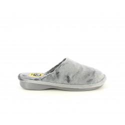 Zapatillas casa Laro grises acolchadas con suelas antideslizantes - Querol online