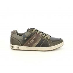 Zapatos sport Xti marrones con cordones, detalles en gris y en marrón