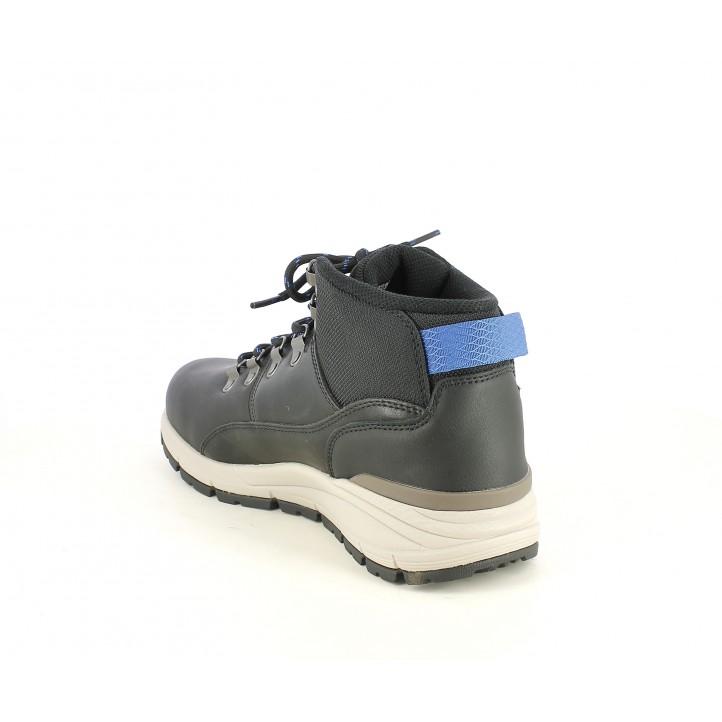 Botines Skechers negros de cordones con plantillas memory foam - Querol online