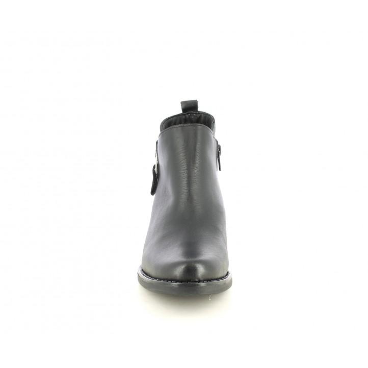 Botines tacón Suite009 negros con cremallera lateral - Querol online