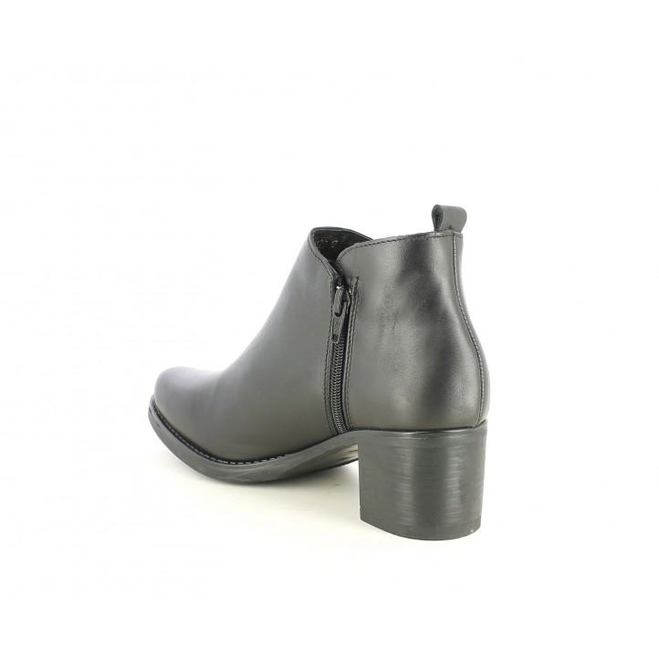 Botins de taló Suite009 negres amb cremallera lateral - Querol online
