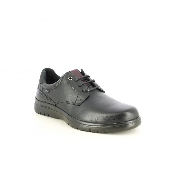 Zapatos sport Baerchi negros con cordones y suela flexible - Querol online