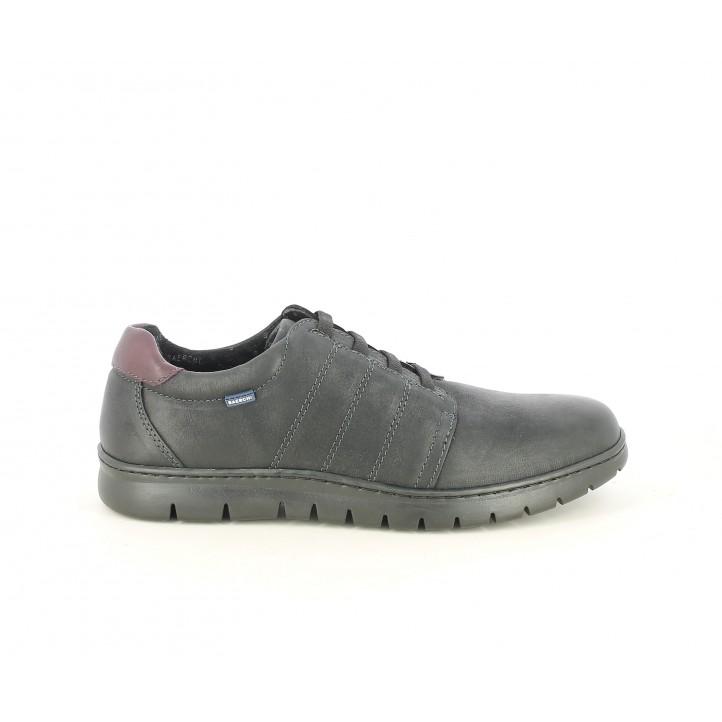 Zapatos sport Baerchi negros con cordones elásticos - Querol online