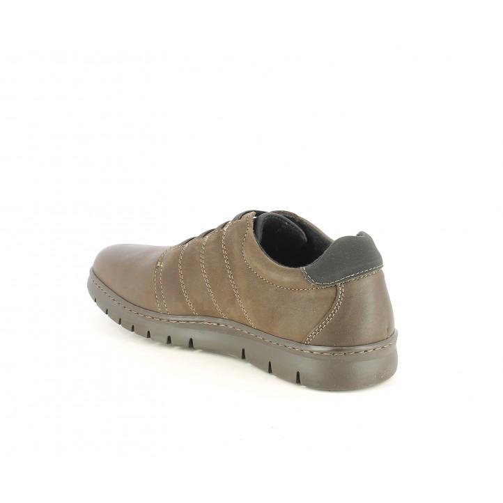 Zapatos sport Baerchi marrones con cordones elásticos - Querol online