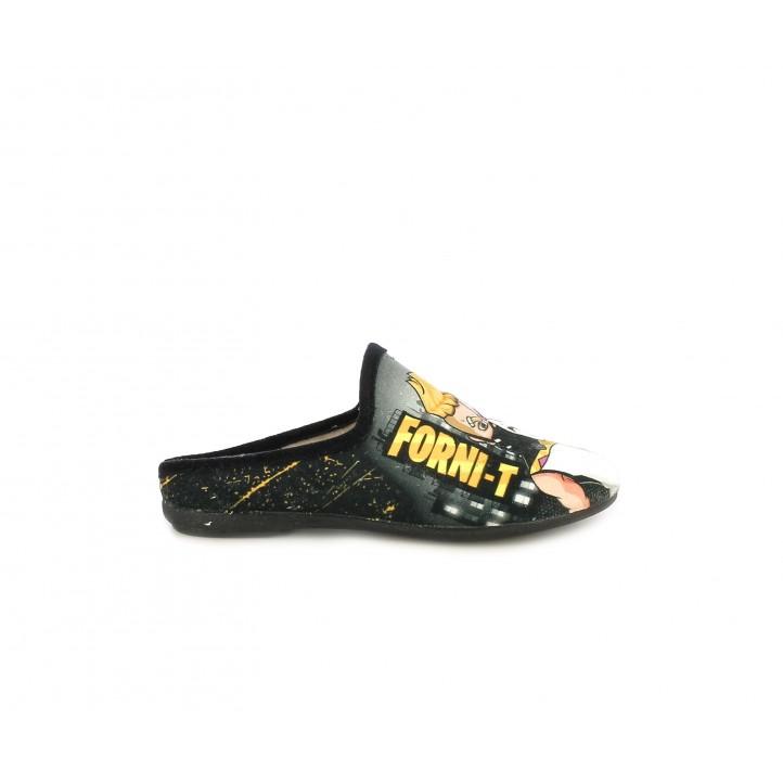 Zapatillas casa Duvic con dibujos de forni-t - Querol online