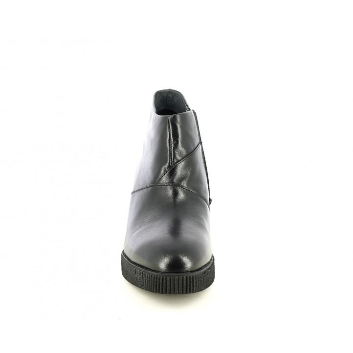 Botins de taló STONEFLY negres amb cremallera i sola de goma - Querol online