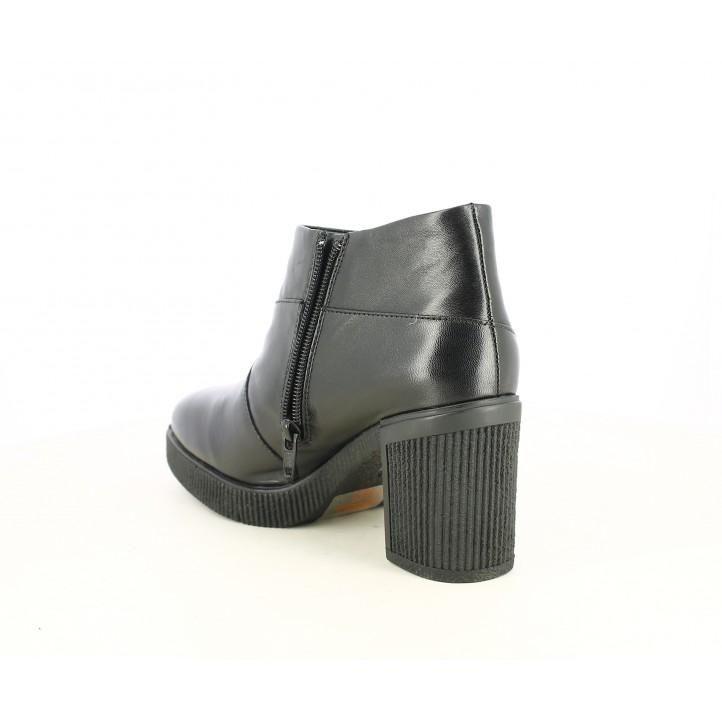 Botines tacón STONEFLY negros con cremallera y suela de goma - Querol online