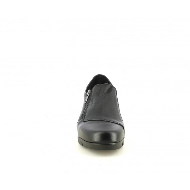 Cuñas Suite009 negras con cremallera y elástico en los laterales - Querol online