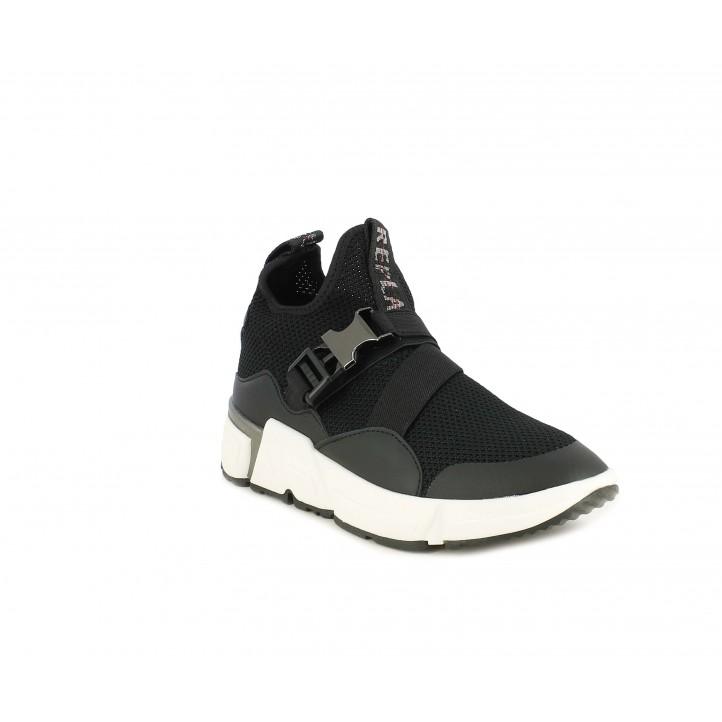 Zapatillas deportivas Replay negras, cierre con elástico y hebilla - Querol online