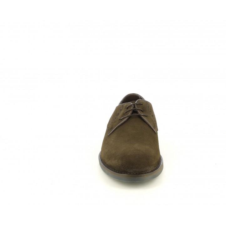 Sabates vestir Be Cool marrons de serratge amb cordons - Querol online