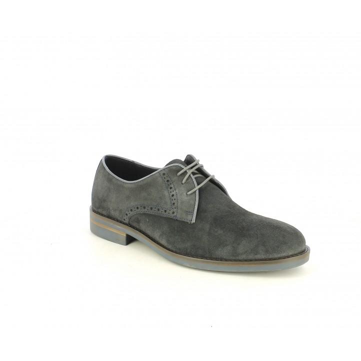 Sabates vestir Be Cool gris de serratge amb cordos - Querol online