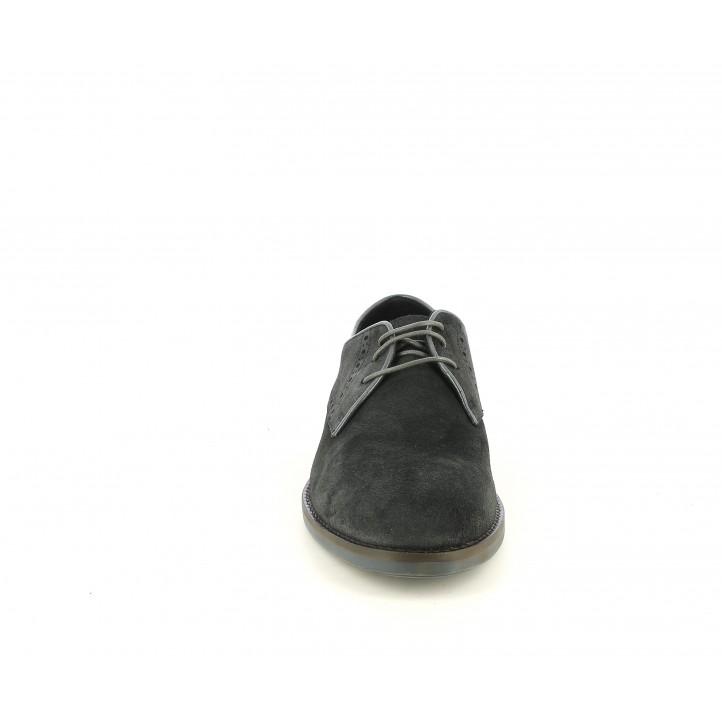 Zapatos vestir Be Cool gris de serraje con cordones - Querol online