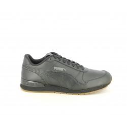 Zapatillas deportivas Puma st runner v2 negros de cordones con detalle en el talón - Querol online