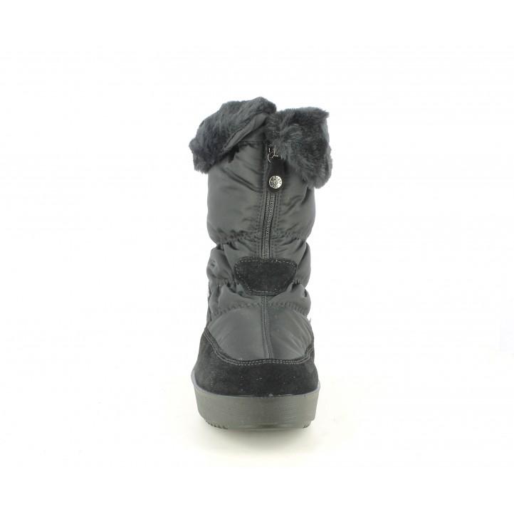 Botines Imac negros con cremallera y forro de piel - Querol online