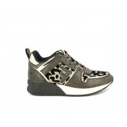 Zapatillas deportivas Replay marrón amb lleopard y toques brillantes - Querol online
