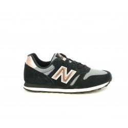 Zapatillas deportivas New Balance negras con detalles dorados - Querol online