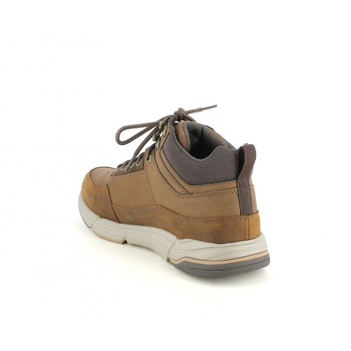 Botins Skechers marrons amb cordons i platilles memory foam - Querol online