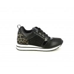 Zapatillas deportivas Funhouse negras con animal print y detalles brillantes