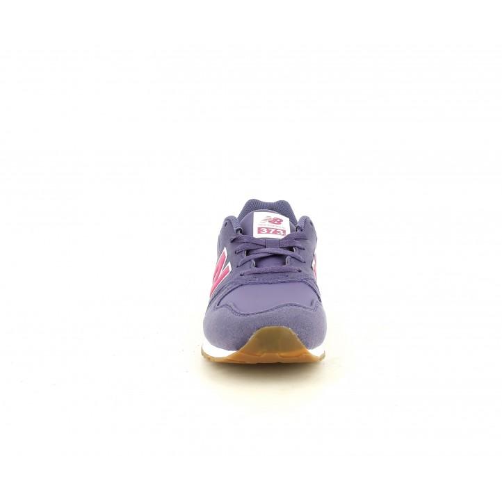 Sabatilles esport New Balance liles amb detalls en rosa - Querol online