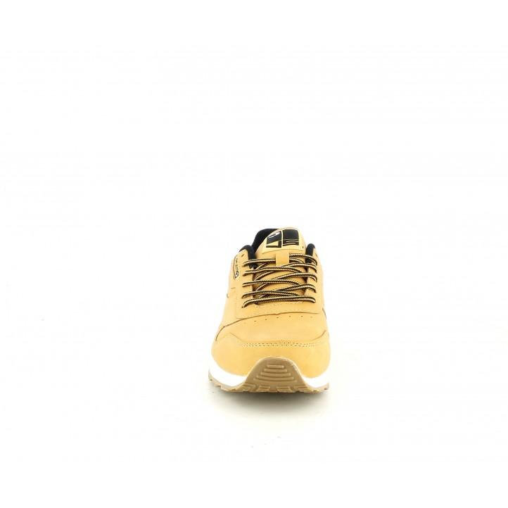 Zapatillas deportivas John Smith camel con cordones y detalles negros - Querol online