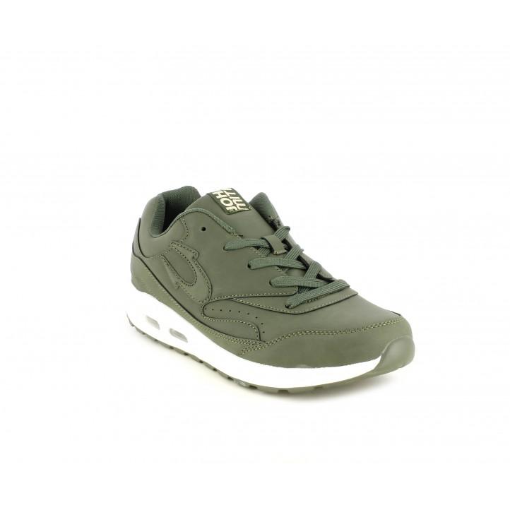 Zapatillas deportivas John Smith verde con mámara de aire - Querol online