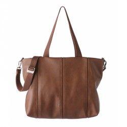 bolsos Slang Barcelona marrón con opción a mochila, cierre de cremallera, bandolera regulable - Querol online