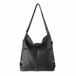 bolsos Slang Barcelona negro bolso/mochila con cierre de cremallera, bandolera regulable - Querol online