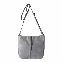 bolsos Slang Barcelona gris con cremallera y tira regulable - Querol online