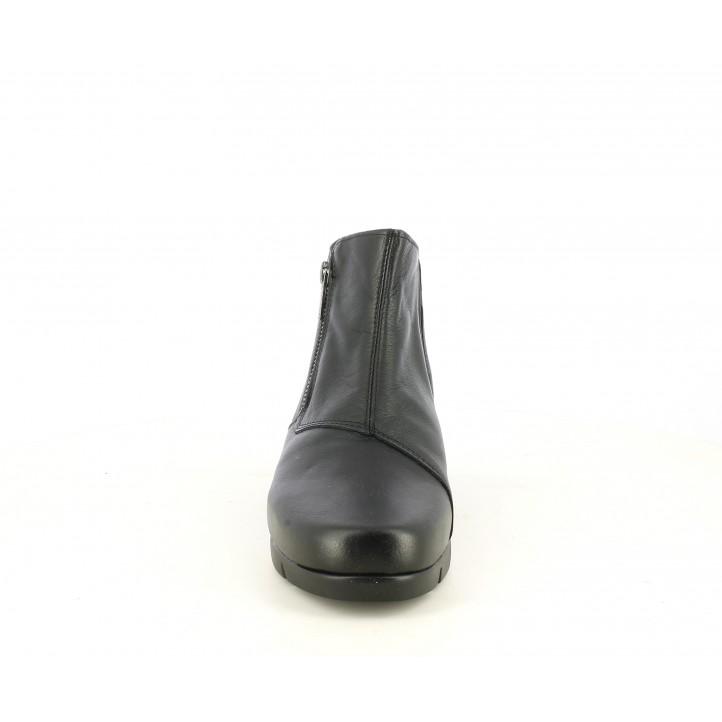 Botins Suite009 negres amb cremallera i elàstic amb falca - Querol online