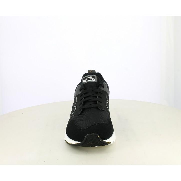 Zapatillas deportivas New Balance ms009 negras con detalles en amarillo - Querol online