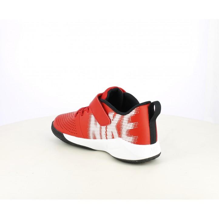 Zapatillas deporte Nike team hustle quick rojo y blanco - Querol online