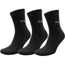 Complementos PUMA pack de 3 calcetines negros altos - Querol online