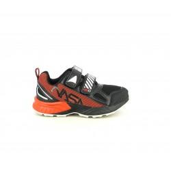 Zapatillas deporte NASA negras y rojas con doble velcro