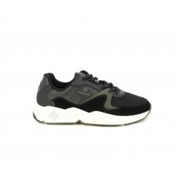 Zapatillas deportivas GANT negreas con plantilla de piel, cordones y suela blanca - Querol online