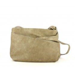 bolsos Slang Barcelona bolso pequeño beige con asa y bolsillos imantados - Querol online