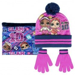 Complements Cerda pack de coll polar, barret i guants de lol blau i rosa - Querol online