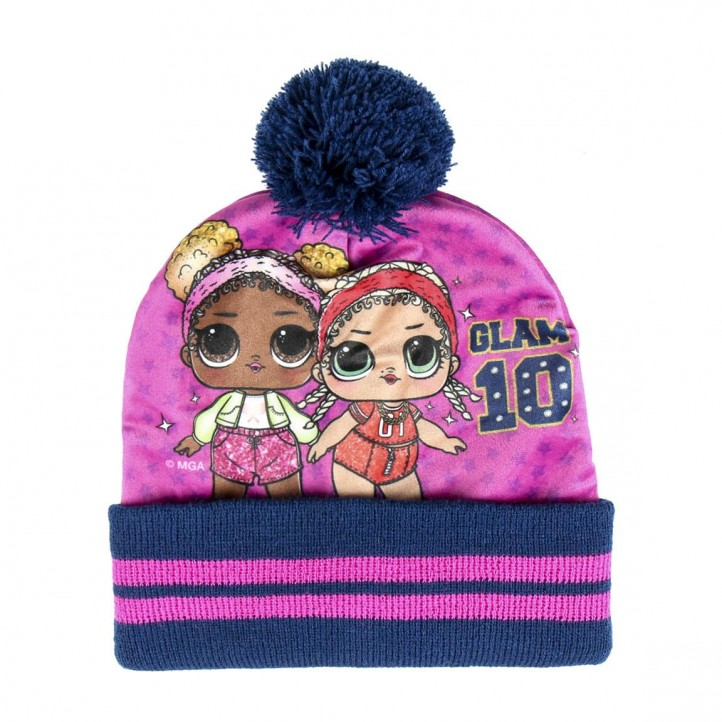 Complementos Cerda pack de cuello polar, gorro y guantes de lol azul y rosa - Querol online