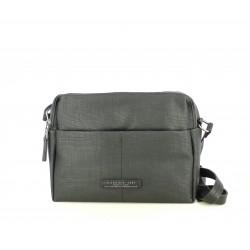 Complementos Slang Barcelona bolso negro con doble compartimento y bolsillo frontal - Querol online