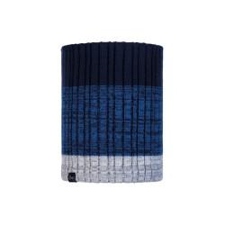 Complementos BUFF cuello de rayas azules y grises con forro polar interior