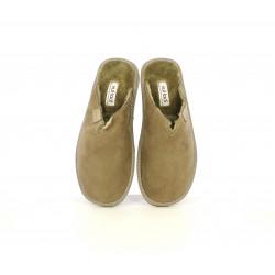 Zapatillas casa Vul·ladi marrones con textura interior - Querol online