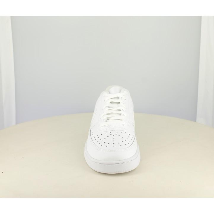Zapatillas deportivas Nike court vision blancas con cordones - Querol online