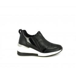 Zapatillas deportivas Funhouse negras con plataforma blanca