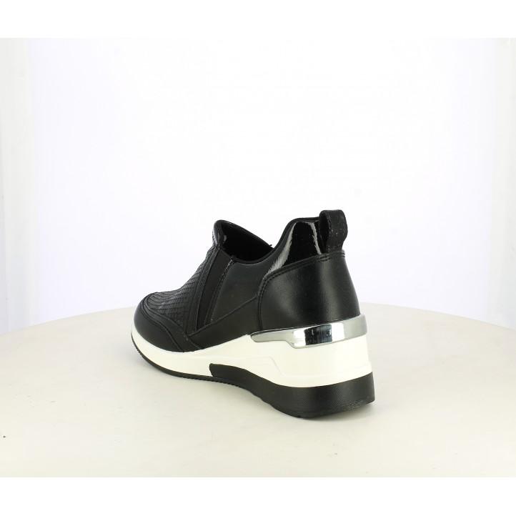 Zapatillas deportivas Funhouse negras con plataforma blanca - Querol online