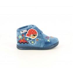 Zapatillas casa Vul·ladi azules de piratas con velcro - Querol online