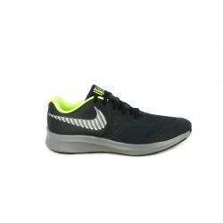 Zapatillas deporte Nike star runner 2 negras con interior amarillo fluorescente