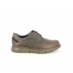 Zapatos sport Fluchos de piel marrón oscuro con cordones - Querol online