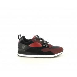 Zapatillas deportivas SixtySeven 67 rojas y negras con cordones estampados - Querol online