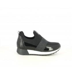 Zapatillas deportivas Funhouse negras de plataforma con diferentes texturas - Querol online